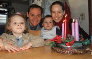 Ons Adventskrans met kerse