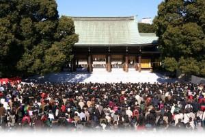 Meiji-Jingu Temple in Tokyo at New Year