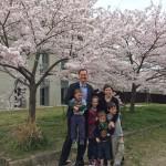 Van der Watt family in front of KRTS